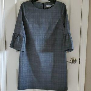 🆕️👗 EMMA & MICHELE GRAY PLAID DRESS